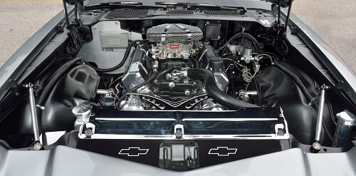 An overview of the parts under the hood of a Chevrolet vehicle